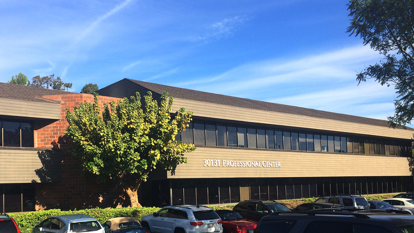 The view of our dental office in Laguna Niguel is always sunny and bright.